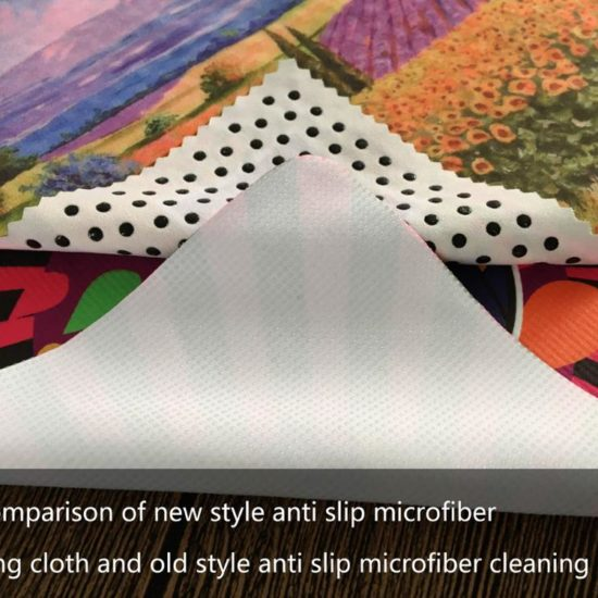Microfiber cloth with silicone dots 1