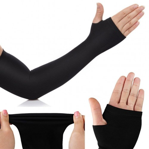 Compression Arm Sleeves With Thumb Holes