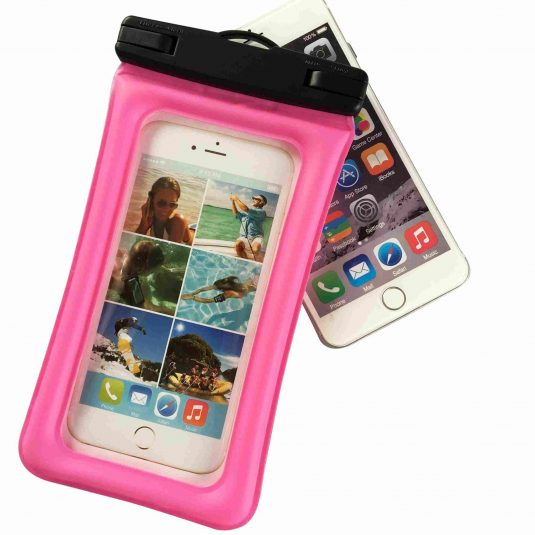 Inflatable floating cell phone waterproof bag